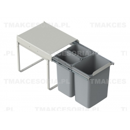 Rejs JC601 Segregator na śmieci. Wysoki. 3 wiadra (2x10L + 20L)