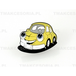 Żółty Samochód  - gałka silikonowa, dziecięca